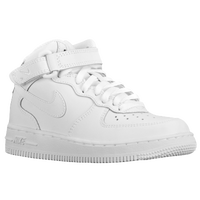 Nike Air Force 1 Mid - Boys' Preschool - All White / White