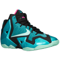Nike LeBron 11 - Boys' Grade School - Lebron James - Aqua / Light Green