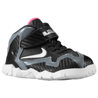Nike LeBron XI - Boys' Toddler - Black / Silver