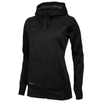Nike Team Full Zip KO Hoodie - Women's - All Black / Black