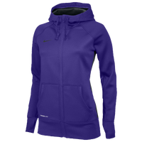 Nike Team Full Zip KO Hoodie - Women's - Purple / Purple