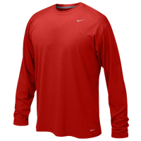 Nike Team Legend L/S Poly Top - Boys' Grade School - Red / Red