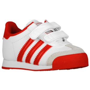 adidas Originals Samoa - Boys' Toddler - White/Light Scarlet