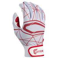 Cutters Lead Off 2.0 Batting Gloves - Men's - White / Red