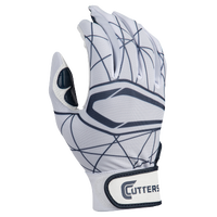 Cutters Lead Off 2.0 Batting Gloves - Men's - White / Navy