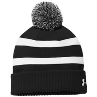 Under Armour Team Pom Beanie - Black / White