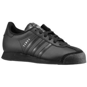 adidas Originals Samoa - Boys' Grade School - Black/Black/Metallic Silver