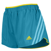 "adidas Climacool Supernova 2.5"" Running Shorts - Women's - Light Blue / Yellow"