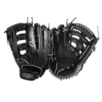 Louisville Slugger Omaha Single Post Web Fielding Glove - Men's - Black / Silver