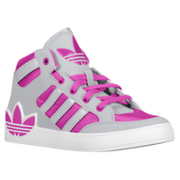 Adidas Shoes For Girls High Tops In Gray And Pink