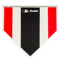 Franklin Deluxe Hi Viz Pitcher's Training Plate - White / Black