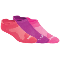 ASICS® Seamless Cushion Low 3 Pack Socks - Women's - Pink / Purple