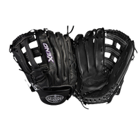 Louisville Slugger Xeno Dual Post Web Fastpitch Glove - Women's - Black / White