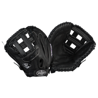 Louisville Slugger Xeno Dual Post Web Fastpitch Glove - Women's - All Black / Black