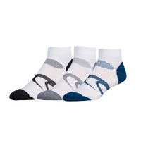ASICS® Intensity Quarter 3 Pack Socks - Men's - White / Black