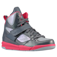 Jordan Flight 45 High - Girls' Preschool - Grey / Red
