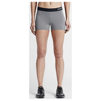 "Nike Pro Cool 3"" Compression Shorts - Women's - Grey / Black"