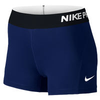"Nike Pro Cool 3"" Compression Shorts - Women's - Navy / Black"