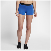 "Nike Pro Cool 3"" Compression Shorts - Women's - Blue / Black"
