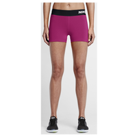 "Nike Pro Cool 3"" Compression Shorts - Women's - Pink / White"