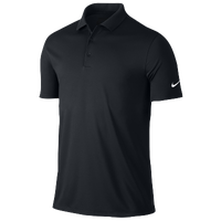 Nike Victory Solid Golf Polo - Men's - All Black / Black