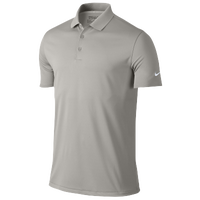 Nike Victory Solid Golf Polo - Men's - Grey / Grey