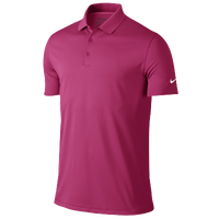 Nike Victory Solid Golf Polo - Men's - Pink / Pink