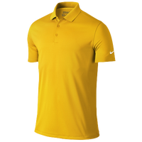 Nike Victory Solid Golf Polo - Men's - Gold / Gold