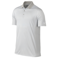 Nike Victory Mini Stripe Golf Polo - Men's - Grey / White