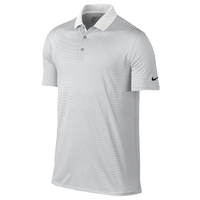 Nike Victory Mini Stripe Golf Polo - Men's - White / Grey