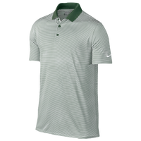 Nike Victory Mini Stripe Golf Polo - Men's - Green / White