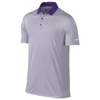 Nike Victory Mini Stripe Golf Polo - Men's - Purple / White