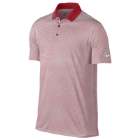 Nike Victory Mini Stripe Golf Polo - Men's - Red / White
