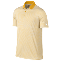 Nike Victory Mini Stripe Golf Polo - Men's - Gold / White