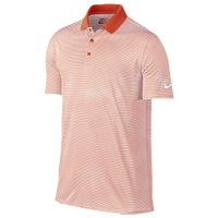 Nike Victory Mini Stripe Golf Polo - Men's - Orange / White