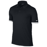 Nike Icon Solid Golf Polo - Men's - Black / White