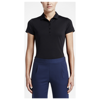 Nike Victory Solid Golf Polo - Women's - All Black / Black