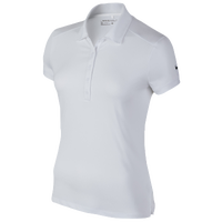 Nike Victory Solid Golf Polo - Women's - All White / White