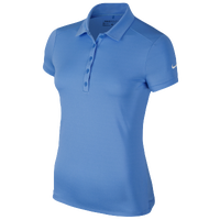 Nike Victory Solid Polo - Women's - Light Blue / Light Blue