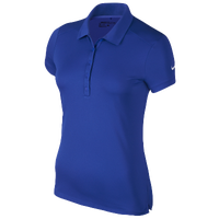 Nike Victory Solid Golf Polo - Women's - Blue / Blue