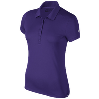 Nike Victory Solid Golf Polo - Women's - Purple / Purple