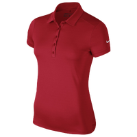 Nike Victory Solid Golf Polo - Women's - Red / Red