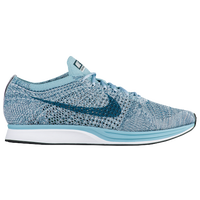 Nike Flyknit Racer - Men's - White / Light Blue