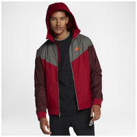 Nike Windrunner Jacket - Men's - Red / Grey