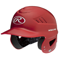Rawlings Coolflo Batting Helmet - Youth - Red / White