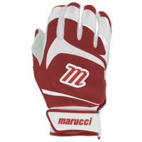 Marucci Signature Batting Gloves - Youth - White / Red