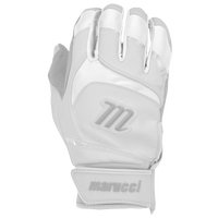 Marucci Signature Batting Gloves - Youth - White / Grey