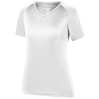 Augusta Sportswear Team Attain Wicking T-Shirt - Women's - All White / White