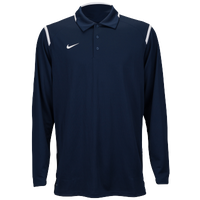 Nike Team Gameday Polo L/S - Men's - Navy / White