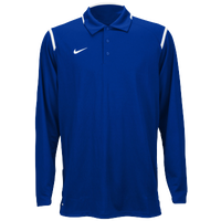 Nike Team Gameday Polo L/S - Men's - Blue / White